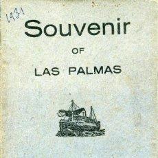 Postais: LAS PALMAS DE GRAN CANARIA - LIVRET MULTIVUES 10 CARTES POSTALES COLORISEES 1931. Lote 276167613