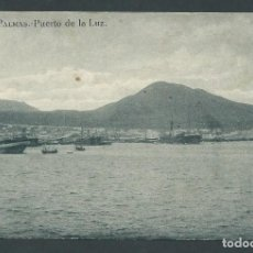 Postales: ANTIGUA POSTAL LAS PLAMAS PUERTO DE LA LUZ CIRCULADA AÑO 1923 GRAFOS MADRID. Lote 276211978