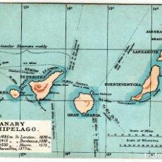 Cartoline: PRECIOSA POSTAL - CANARIAS - CANARY ARCHIPELAGO - MAPA DE LAS ISLAS. Lote 276218568