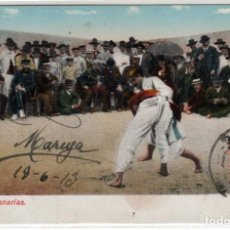 Postales: PRECIOSA POSTAL - LUCHA EN CANARIAS - RODRIGUEZ BROS - CIRCULADA AÑO1913. Lote 276219368