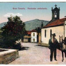 Postales: BONITA POSTAL - GRAN CANARIA - VENDEDOR AMBULANTE. Lote 276221038