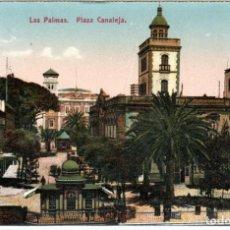 Postales: BONITA POSTAL - LAS PALMAS (CANARIA) - PLAZA CANALEJA - FOTOGRAFIA ALEMANA. Lote 276413613