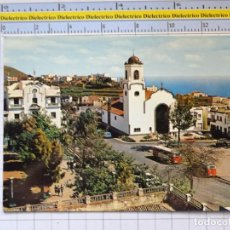 Postales: POSTAL DE LA ISLA DE LA PALMA. AÑO 1968 LOS SAUCES PLAZA E IGLESIA DE NUESTRA SEÑORA DE MONTSE. 1340. Lote 276967968