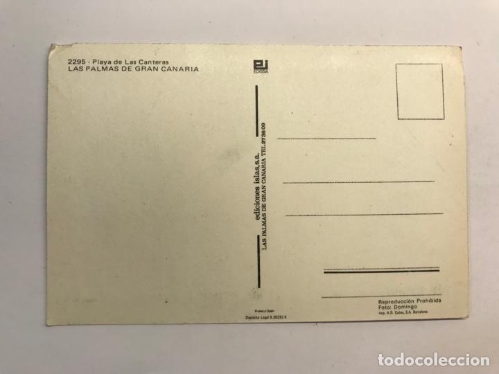Postales: LAS PALMAS DE GRAN CANARIA. Postal No.2295, Playa de las Canteras. EDISSA (h.1960?) S/C - Foto 2 - 276978618