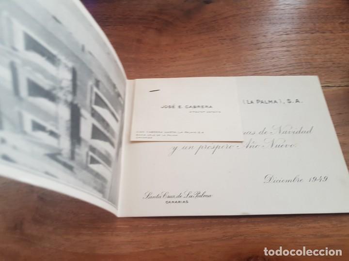 1949 TARJETA FOTO DE FELICITACION JUAN CABRERA MARTIN - LA PALMA - ISLAS CANARIAS (Postales - España - Canarias Moderna (desde 1940))