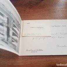 Postales: 1949 TARJETA FOTO DE FELICITACION JUAN CABRERA MARTIN - LA PALMA - ISLAS CANARIAS. Lote 276998408