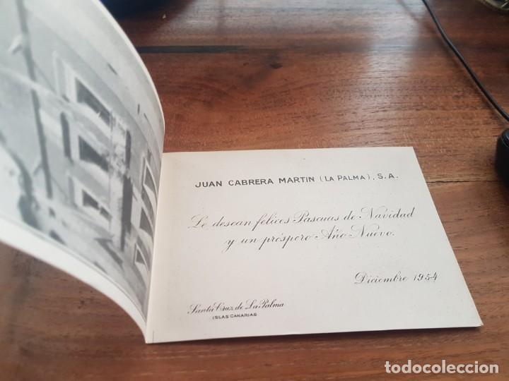 1954 TARJETA FOTO DE FELICITACION JUAN CABRERA MARTIN - LA PALMA - ISLAS CANARIAS (Postales - España - Canarias Moderna (desde 1940))