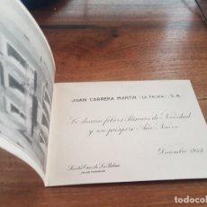 Postales: 1954 TARJETA FOTO DE FELICITACION JUAN CABRERA MARTIN - LA PALMA - ISLAS CANARIAS. Lote 276998453