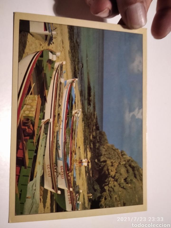 POSTAL CANARIAS BARCAS PLAYA (Postales - España - Canarias Moderna (desde 1940))