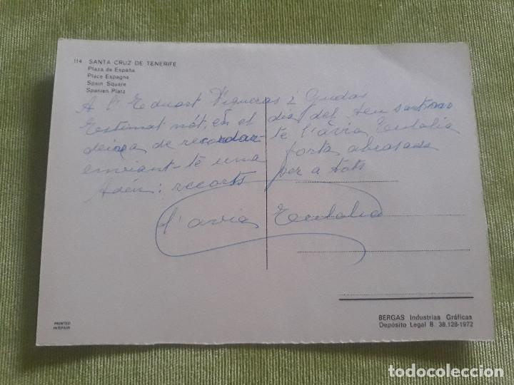 Postales: Santa Cruz de Tenerife - Plaza de España - Año 1972 - Foto 2 - 277111018