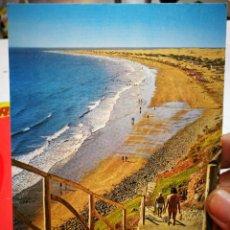 Postales: POSTAL GRAN CANARIA PLAYA DEL INGLÉS N 10776 EXCLUSIVA DE MANUEL BRITO AUYANET ESCRITA Y SELLADA. Lote 277532898