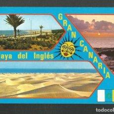 Postales: POSTAL CIRCULADA PLAYA DEL INGLES 10714 GRAN CANARIA EDITA BRITO. Lote 277658998