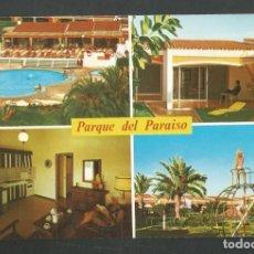 Postales: POSTAL CIRCULADA PARQUE DEL PARAISO 6710 SUR DE GRAN CANARIA EDITA ISLAS. Lote 277659038