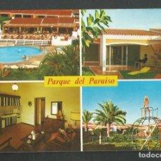 Postales: POSTAL CIRCULADA PARQUE DEL PARAISO 6710 SUR DE GRAN CANARIA EDITA ISLAS. Lote 277659138