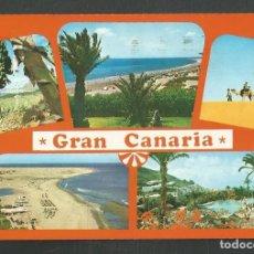 Postales: POSTAL CIRCULADA VISTAS DE GRAN CANARIA 10632 EDITA BRITO. Lote 277659173