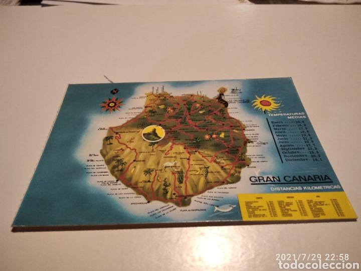 MAPA DE GRAN CANARIA (Postales - España - Canarias Moderna (desde 1940))