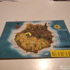 Postales: MAPA DE GRAN CANARIA. Lote 278292908