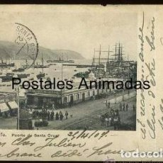 Postales: EA160 TENERIFE PUERTO DE SANTA CRUZ ENGLISH BAZAR REVERSO SIN DIVIDIR. Lote 278872328