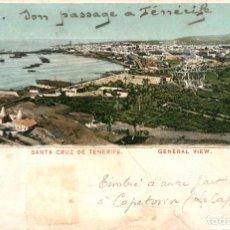 Postales: EA167 TENERIFE SANTA CRUZ DE TENERIFE VISTA GENERAL ENGLISH BAZAR Nº1 REVERSO SIN DIVIDIR CIRCULADA. Lote 278873118