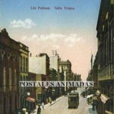 Postales: EA173 LAS PALMAS CALLE TRIANA FOTOGRAFIA ALEMANA TRANVIA. Lote 278873843