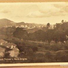 Postales: POSTAL DE LAS PALMAS SANTA BRIGIDA ESCRITA CON SELLO DE ISABEL LA CATOLICA DE 20 CENTIMOS. Lote 278880653