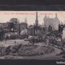 Postales: LAS PALMAS (GRAN CANARIA) CEMENTERIO CATÓLICO. Lote 279522283