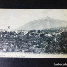 Postales: TENERIFE ICOD DE LOS VINOS CON EL TEIDE. Lote 286435293