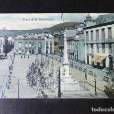 Postales: SANTA CRUZ DE TENERIFE PLAZA CONSTITUCIÓN. Lote 286435538