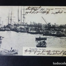 Postales: SANTA CRUZ DE TENERIFE THE MOLE. Lote 286435843