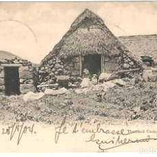 Cartes Postales: TENERIFE. THATCHED COTTAGE. (TEJADOS DE PAJA) EN REVERSO MATASELLO DEUTSCHE LINE HAMBURG SUDAMERIKA. Lote 286454798