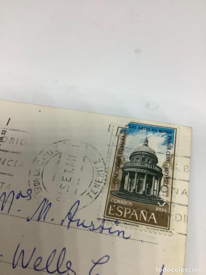 Postales: TENERIFE, PUERTO DE LA CRUZ. plaza Peña de Francia. Global Traders. Sello 1973 - Foto 2 - 287792793