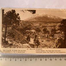 Postales: POSTAL. ISLA DE TENERIFE. EL TEIDE VISTO DESDE ICOD. HUECOGRABADO MUMBRU.. Lote 288011028