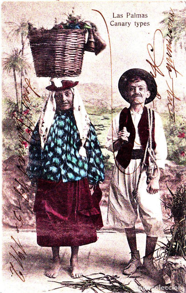 LAS PALMAS (CANARIAS) - TIPOS CANARIOS (Postales - España - Canarias Antigua (hasta 1939))