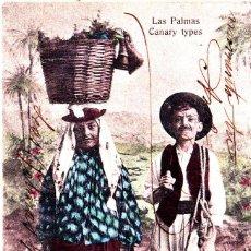 Postales: LAS PALMAS (CANARIAS) - TIPOS CANARIOS. Lote 288411213