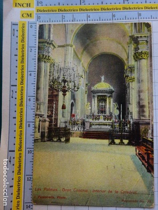 POSTAL DE GRAN CANARIA. AÑOS 10 30. LAS PALMAS INTERIOR DE LA CATEDRAL 35 PERESTRELLO. 553 (Postales - España - Canarias Antigua (hasta 1939))