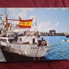 Postales: LAS PALMAS. BUQUE CIUDAD DE HUESCA, VIGO. Lote 288644793