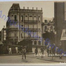 Postales: LAS PALMAS. CALLE MURO Y PUENTE DE PIEDRA. FOTO BAENA Nº 51. Lote 289490693