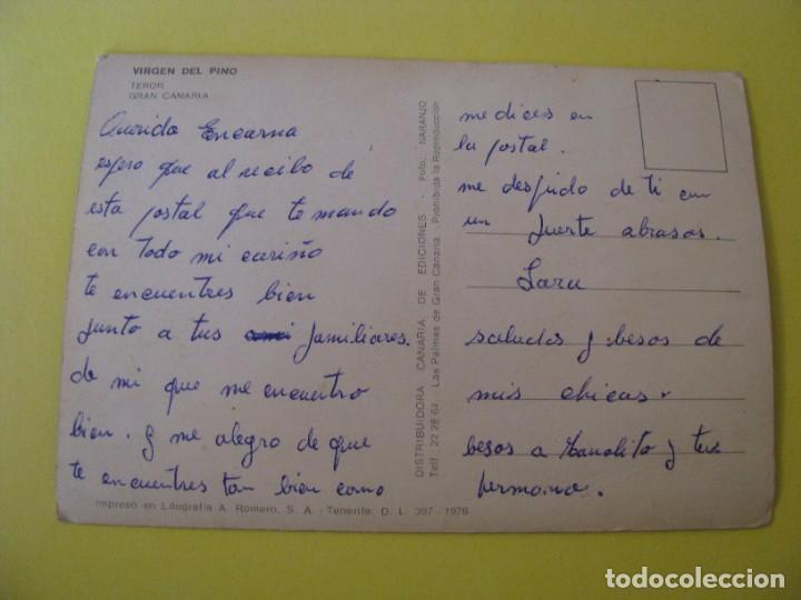 Postales: POSTAL DE TEROR. VIRGEN DEL PINO. DISTR. CANARIA DE EDICIONES. 1976. ESCRITA. - Foto 2 - 289584988