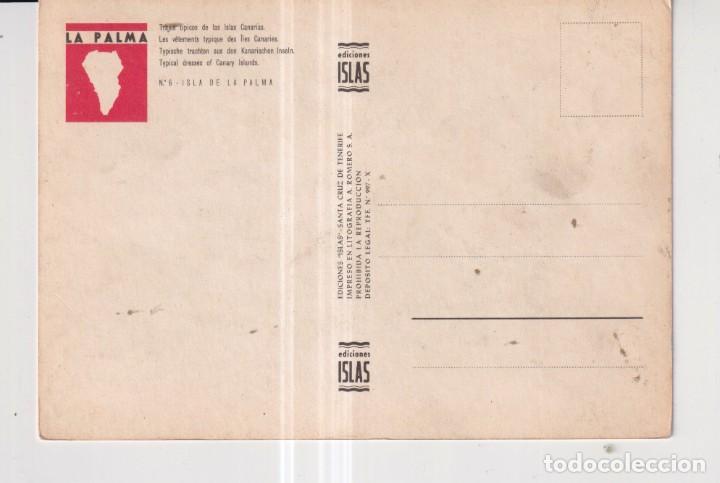 Postales: POSTAL DE TRAJE DE LA PALMA GRAN CANARIAS EDITO ISLAS SIN CIRCULAR - Foto 2 - 289589138