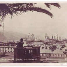 Cartoline: SANTA CRUZ DE TENERIFE: EL PUERTO DESDE LA ALAMEDA. P. EXPRES. CIRCULADA (AÑOS 30). Lote 292564938