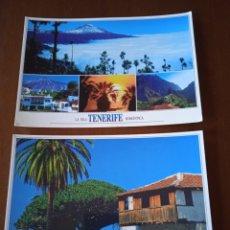 Postales: LOTE 2 POSTALES. LA ISLA TENERIFE ROMÁNTICA Y EL DRAGO TENERIFE MILENARIO. SIN CIRCULAR.. Lote 294443383