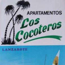 Postales: LANZAROTE. APARTAMENTOS LOS COCOTEROS. COLECCIÓN LAS AFORTUNADAS. USADA CON SELLO. COLOR. Lote 294990973