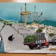 Postales: SANTA CRUZ DE LA PALMA. EL PUERTO. BARCO CIUDAD DE TERUEL. FOTOCOLOR VALMAN.. Lote 295023653