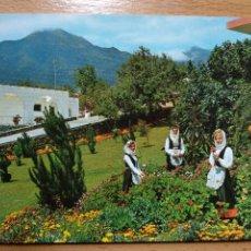 Postales: CIUDAD EL PASO. LA PALMA. BUNGALOWS VISTA VALLE SEÑORITAS CON TRAJE TIPICO.. Lote 295516593