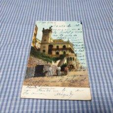 Postales: POSTAL ANTIGUA CANARIAS. SANTA CRUZ DE TENERIFE. HOTEL QUISISANA. CIRCULADA. Lote 295520228