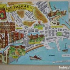 Postales: LAS PALMAS DE GRAN CANARIA. POSTAL PLANO MONUMENTAL CAPITALES . ED. FRESNO. SIN CIRCULAR. Lote 297152598