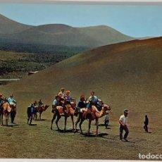 Postales: LANZAROTE, ISLA DE LOS VOLCANES CARAVANA DE CAMELLOS. ED GASTEIZ. SIN CIRCULAR.. Lote 297266898