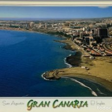 Postales: GRAN CANARIA, PLAYA DE SAN AGUSTÍN. COMERCIAL ISTOYA. CIRCULADA.. Lote 297267883