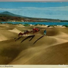 Postales: GRAN CANARIA, MASPALOMAS CAMELLOS Y DUNAS. JOHN HINDE CIRC 1982. Lote 297268318