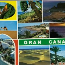 Postales: GRAN CANARIA, PANORÁMICAS. BRITO. CIRCULADA MATASELLO RODILLO.. Lote 297268543